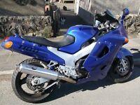 kawasaki zzr1100 mot till1/10/16in good runing order it now blue