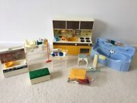 Dolls furniture bundle inc vintage Sindy kitchen light up hob