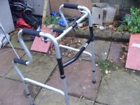 FOLDING WALKING FRAME AS NEW CONDITION DELUXE MODEL