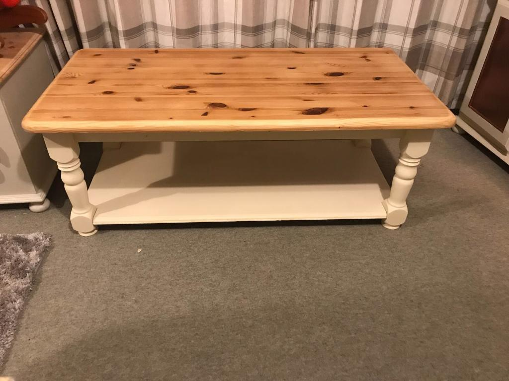 Shabby chic coffee table solid pine