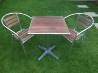 Indian Ocean Milano Table with Two Chairs - teak