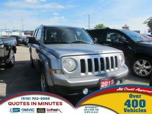 2015 Jeep Patriot Sport/North   4X4   ONE OWNER