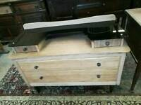 Lebus Dressing Table with black glass top