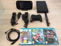 Nintendo Wii U 32gb Premium Games Console Boxed Bundled With All Cables