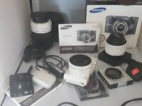 Samsung NX100 Digital Camera with Accesories and extras.