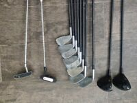 Right handed golf clubs & bag - very good condition