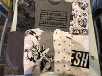 JOB LOT BOYS CLOTHING 11/12 YEARS RIVER ISLAND, NEXT, ASSASSINS CREED, CONVERSE, SIKSILK