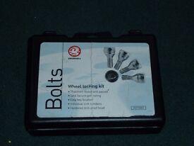 Vauxhall locking wheel nuts & key