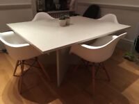 Painted Dining table / meeting table - light grey