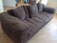 3 seater sofa, swivel chair and puff