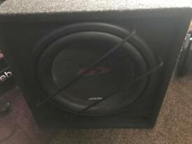 12 inch Alpine subwoofer in custom made box