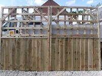 trellis gates 10ft wide 6ft high tanalised/treated on sale was £399 and is now £199