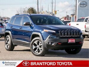2015 Jeep Cherokee Trailhawk, Only 41188 Km's!!, V6, Pano Roof,