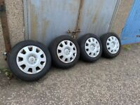 """Zafira Astra Vectra 15"""" wheels with good tyres"""