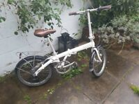 Bickerton Junction 1607 Folding bike, colour pearl white
