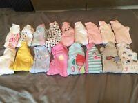 Bundle of newborn girls clothes