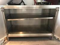 Industrial stainless steel cabinet - 2 doors and shelf