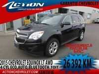 2015 CHEVROLET EQUINOX AWD LT AUTO,AIR,TOIT,BLUETOOTH,2.4L ECO