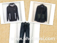 Boys size 12-13 years clothes bundle - 3 items - denim shirt, jeans, hoody
