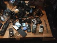 10 mobile phones/Computer/Tv Combi/Routers/Satellite boxes job lot to clear