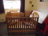Baby cot & changing unit