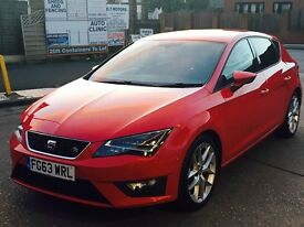 SEAT LEON 2.0 TDI CR FR (Tech Pack) 5dr (start/stop) (red) 2013