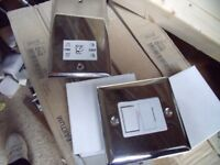Bulk lot. consists of 8x chrome fused sockets and 1x chrome shaver socket ALL NEW