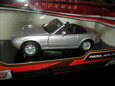 1:24 Motor Max Mazda MX-5 NA Miata silber/silver OVP (Mazda Miata Motor)