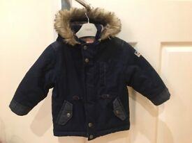 Boys Navy Puffa Jacket Coat from Next Size 12-18 mths