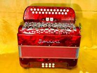Borsini Midi C/C Sharp 4 voice musette accordion Used