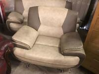 Leather 2 and 1 sofa set