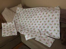 Cath kidston single duvet cover and pillowcase x2