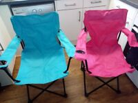 Folding camping chairs ( festivals, fishing,bbq's)