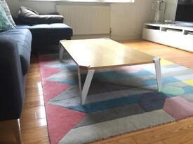 Made Hexag coffee table oak & white
