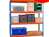 Rapid racking four tier shelving