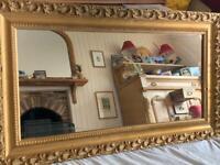 Lovely antique Gilt mirror - £75