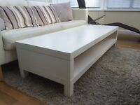 IKEA white TV stand/coffee table