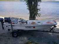 13ft dory by Orkney yamaha 40hp + 4hp four stroke