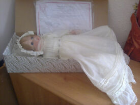 """15"""" baby doll in Christening gown"""