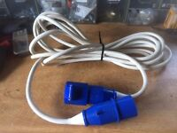 Caravan/Motorhome/Campervan/Camping Electric Hook Up cable Approx 7m £10
