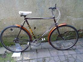vintage 1970's 3 speed bicycle