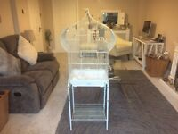 Large Bird Cage With Stand Very Clean And In Very Good Condition