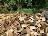 Seasoned Holm Oak logs