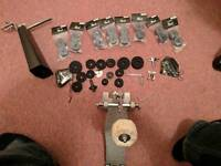 Drum bass pedal kick and drum accessories