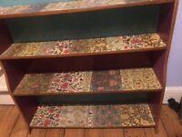 Bookcase floral decoupage