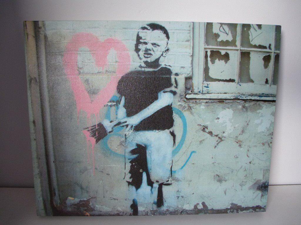 Cavas Prints Banksy; Beatles; Hendricks