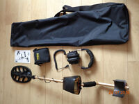 Fisher F4 metal detector and accesories