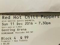 Red hot chili pepper tickets