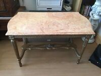 BEAUTIFUL MARBLE TOP CONSOLE TABLE