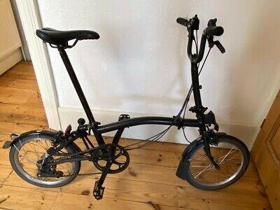 Brompton folding bike, Black Special Edition S6L All Black (6 gears 2015)